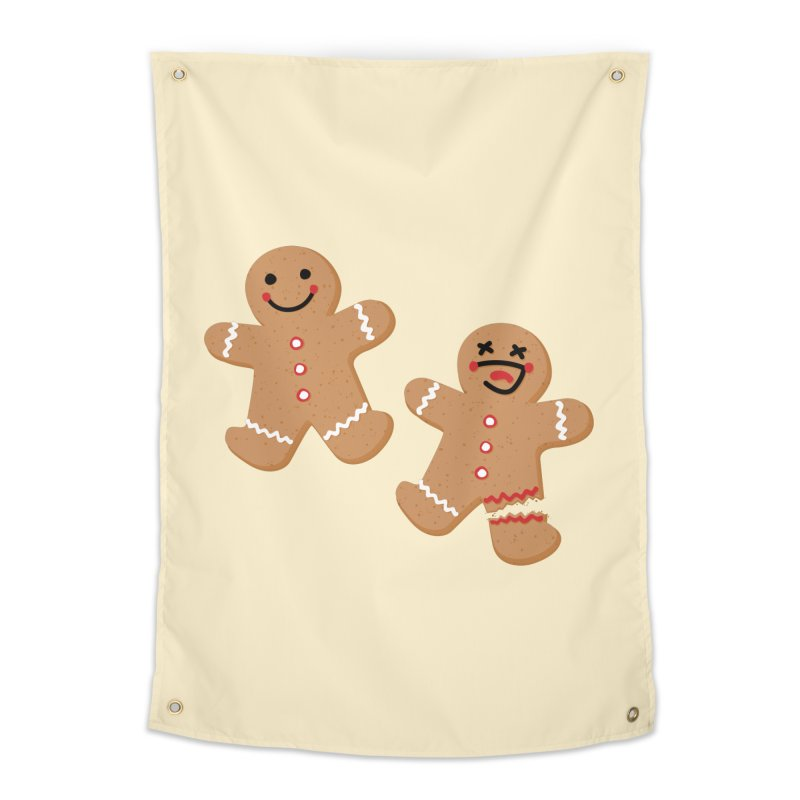 Gingerbread People Home Tapestry by Dean Cole Design