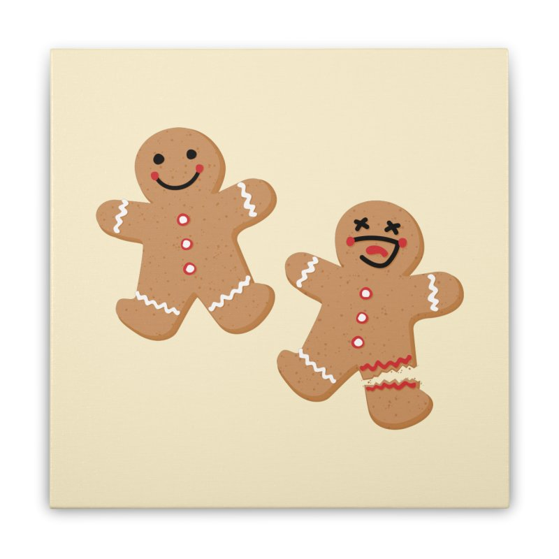 Gingerbread People Home Stretched Canvas by Dean Cole Design