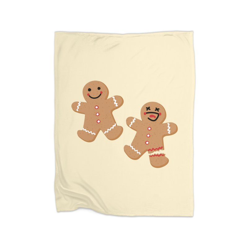 Gingerbread People Home Fleece Blanket Blanket by Dean Cole Design