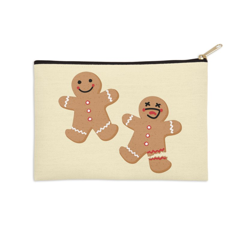 Gingerbread People Accessories Zip Pouch by Dean Cole Design
