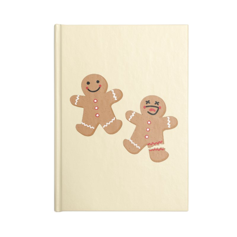 Gingerbread People Accessories Blank Journal Notebook by Dean Cole Design