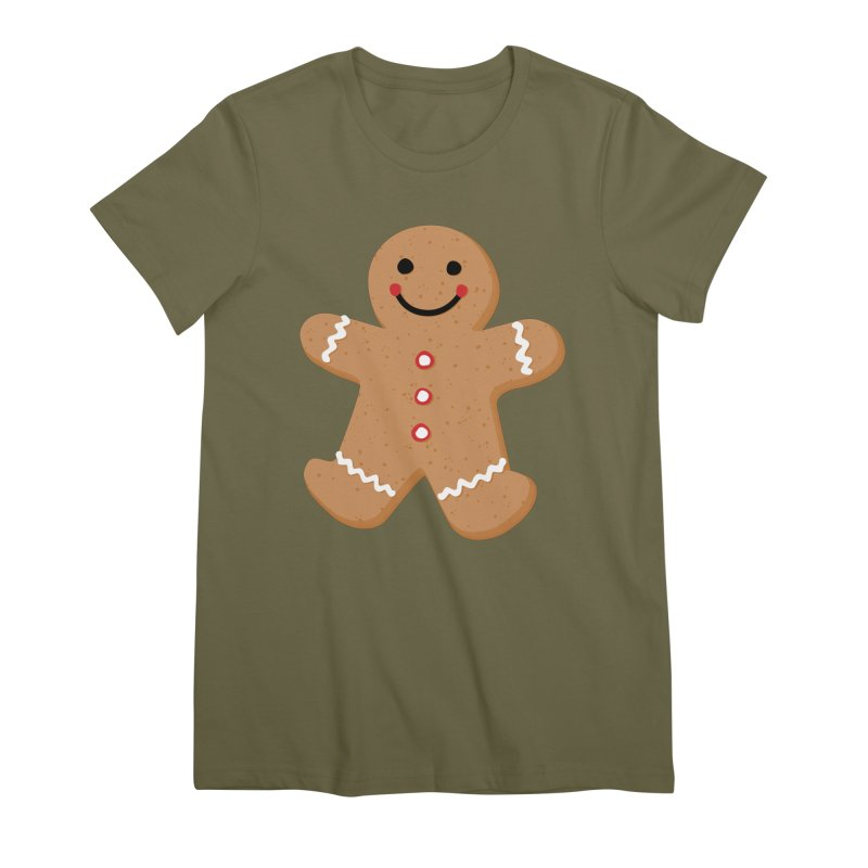 Gingerbread Person Women's Premium T-Shirt by Dean Cole Design