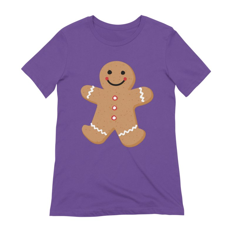 Gingerbread Person Women's Extra Soft T-Shirt by Dean Cole Design