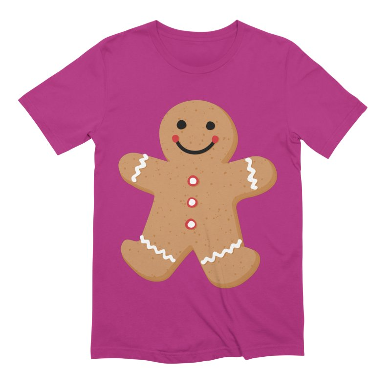 Gingerbread Person Men's Extra Soft T-Shirt by Dean Cole Design