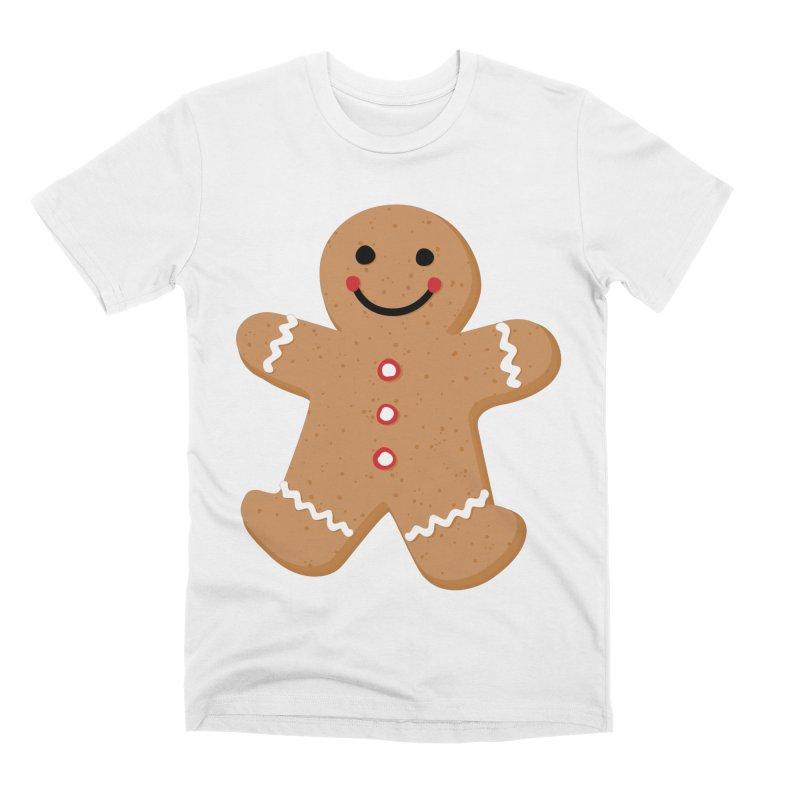 Gingerbread Person Men's T-Shirt by Dean Cole Design