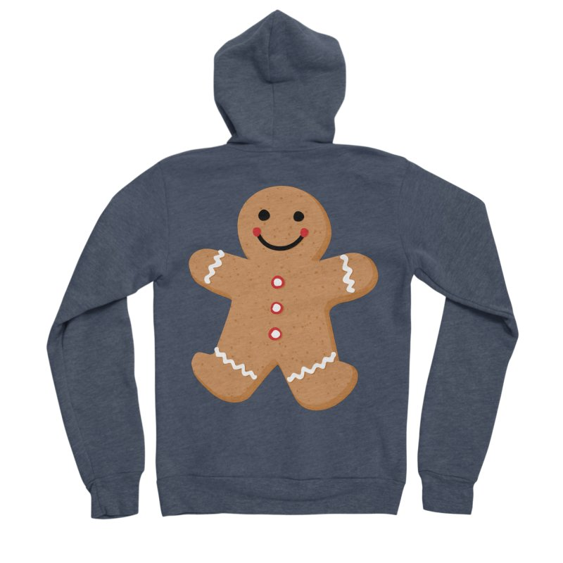 Gingerbread Person Men's Zip-Up Hoody by Dean Cole Design