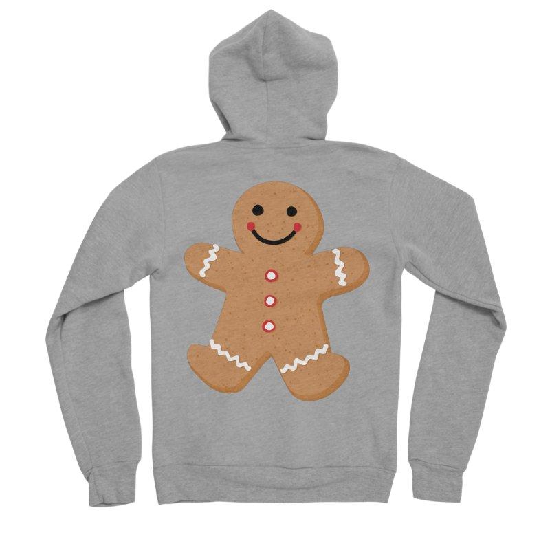 Gingerbread Person Women's Sponge Fleece Zip-Up Hoody by Dean Cole Design
