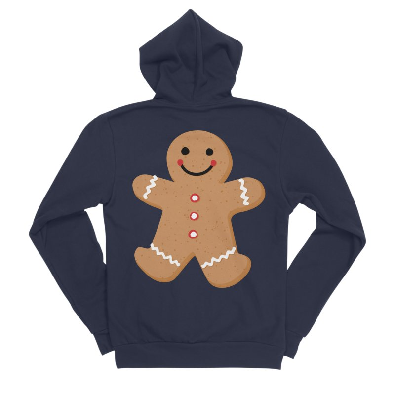 Gingerbread Person Men's Sponge Fleece Zip-Up Hoody by Dean Cole Design