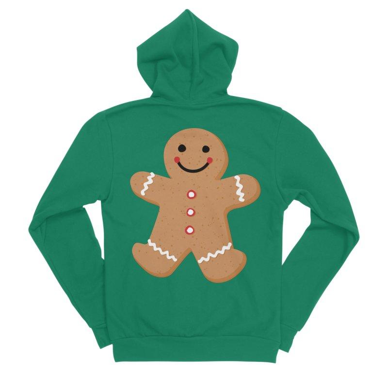 Gingerbread Person Men's Sponge Fleece Zip-Up Hoody by Dean Cole Design