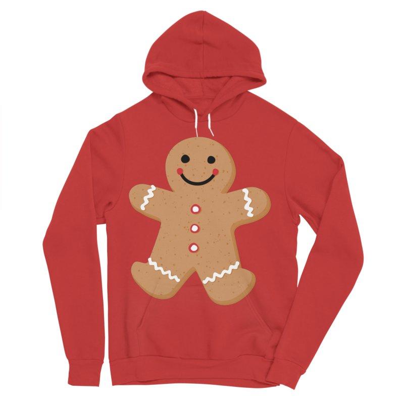 Gingerbread Person Men's Sponge Fleece Pullover Hoody by Dean Cole Design