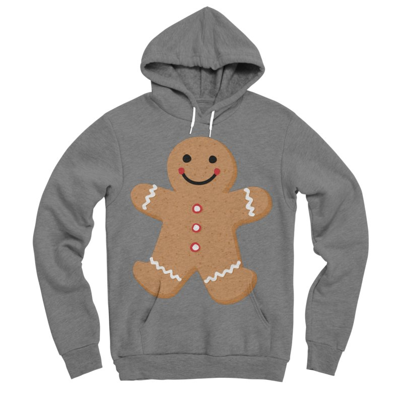 Gingerbread Person Women's Sponge Fleece Pullover Hoody by Dean Cole Design
