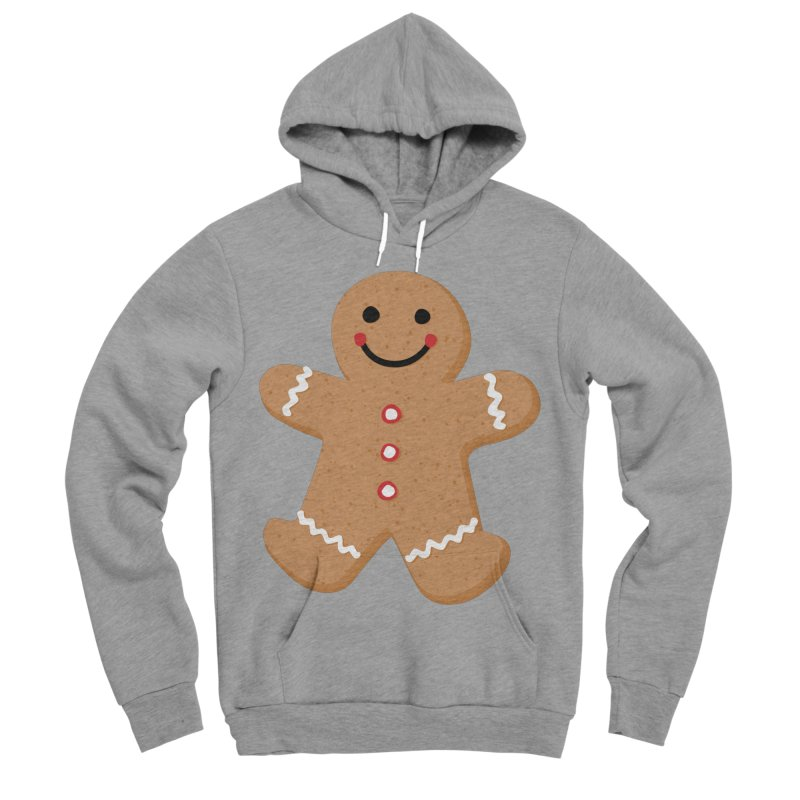 Gingerbread Person Men's Sponge Fleece Pullover Hoody by Dean Cole Design