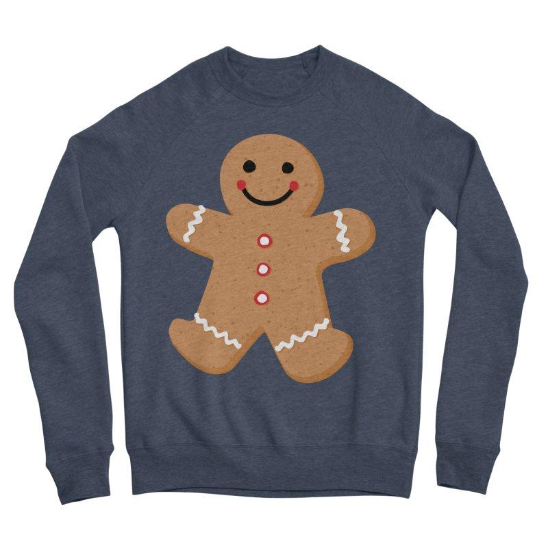 Gingerbread Person Men's Sponge Fleece Sweatshirt by Dean Cole Design
