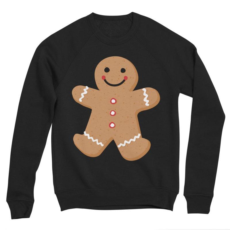 Gingerbread Person Women's Sponge Fleece Sweatshirt by Dean Cole Design