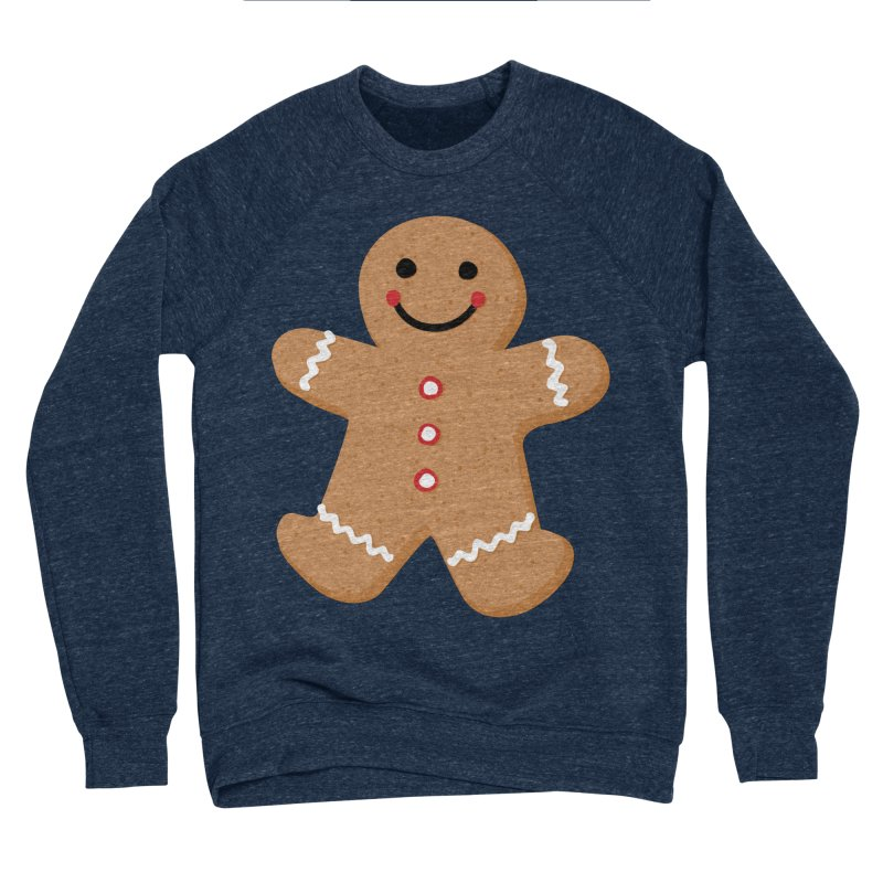 Gingerbread Person Men's Sponge Fleece Sweatshirt by Dean Cole Design