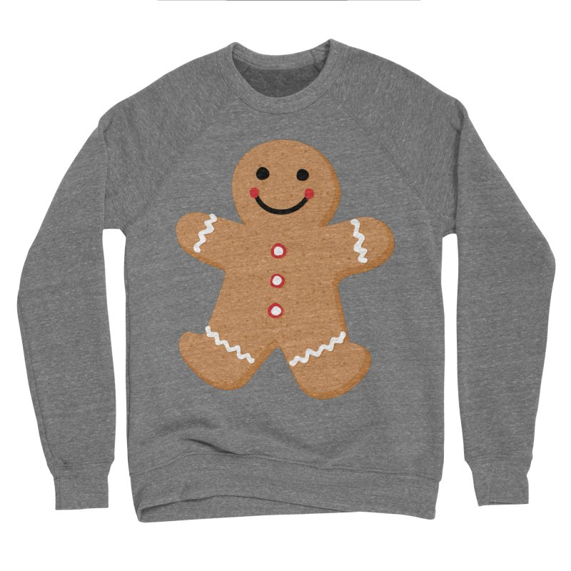 Gingerbread Person Women's Sponge Fleece Sweatshirt by Dean Cole Design
