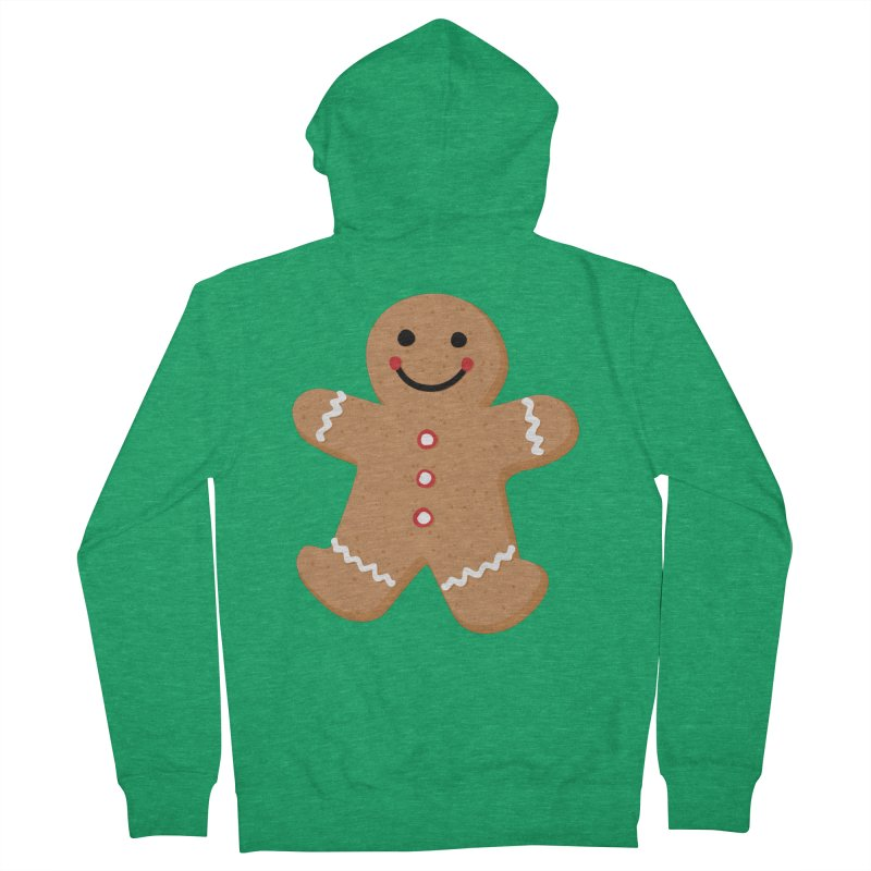 Gingerbread Person Women's Zip-Up Hoody by Dean Cole Design