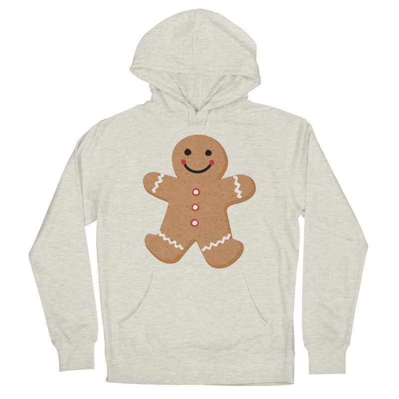 Gingerbread Person Men's French Terry Pullover Hoody by Dean Cole Design