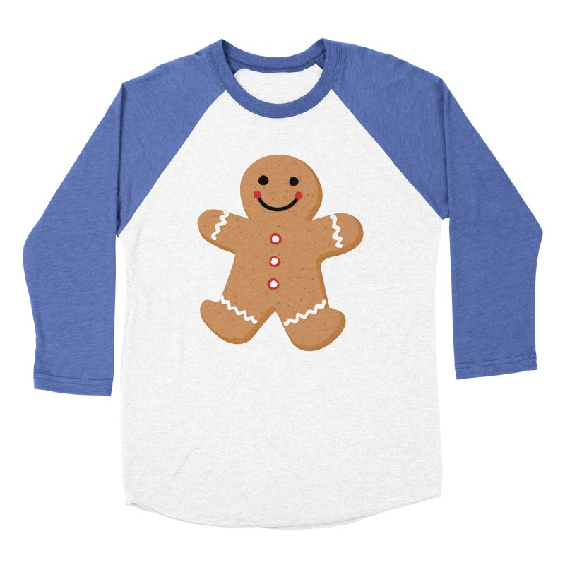 Gingerbread Person Women's Baseball Triblend Longsleeve T-Shirt by Dean Cole Design