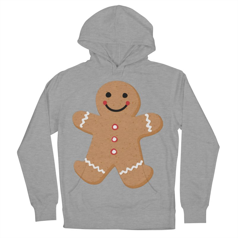 Gingerbread Person Women's French Terry Pullover Hoody by Dean Cole Design