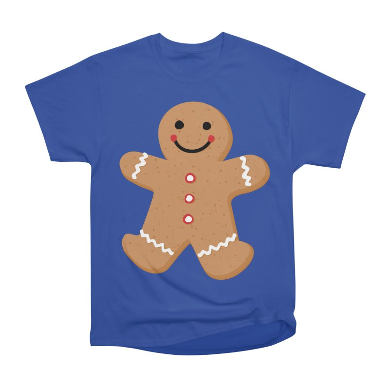 Gingerbread Person Women's Heavyweight Unisex T-Shirt by Dean Cole Design