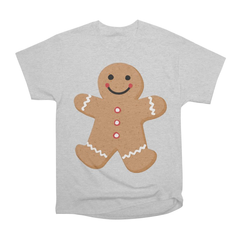 Gingerbread Person Women's Heavyweight Unisex T-Shirt by Dean Cole Design