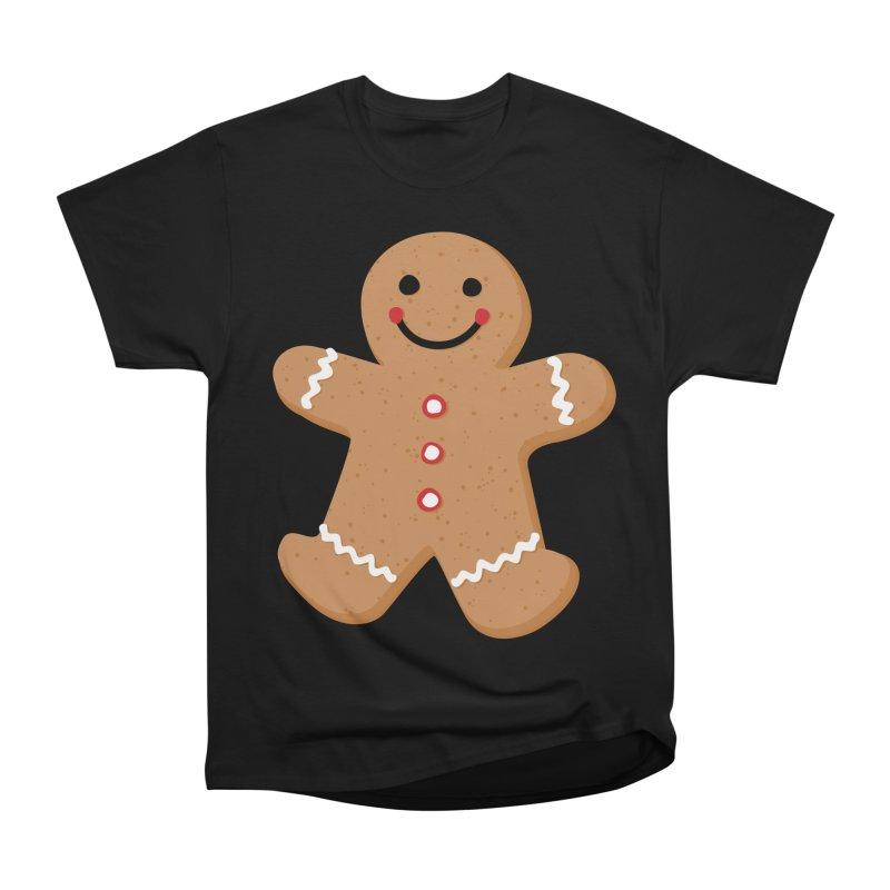 Gingerbread Person Men's Heavyweight T-Shirt by Dean Cole Design