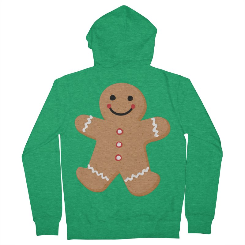 Gingerbread Person Women's French Terry Zip-Up Hoody by Dean Cole Design