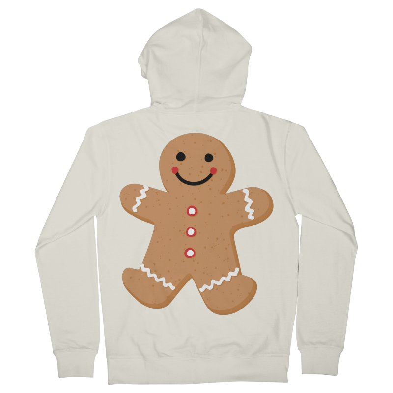 Gingerbread Person Men's French Terry Zip-Up Hoody by Dean Cole Design