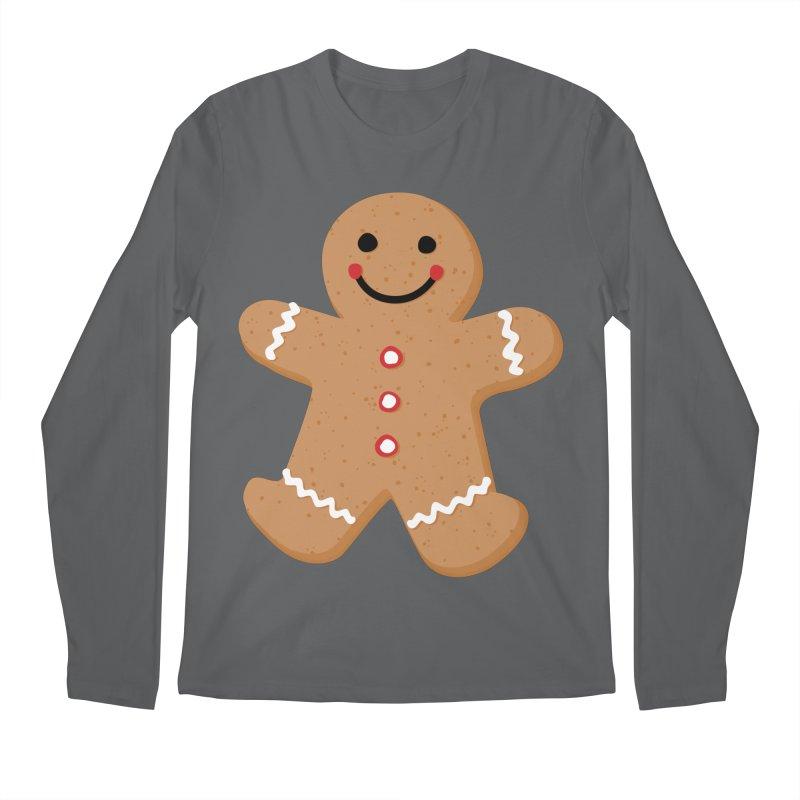 Gingerbread Person Men's Longsleeve T-Shirt by Dean Cole Design
