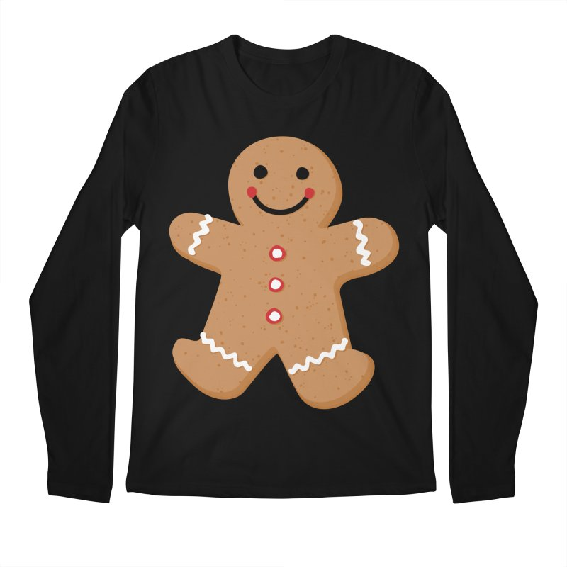 Gingerbread Person Men's Regular Longsleeve T-Shirt by Dean Cole Design