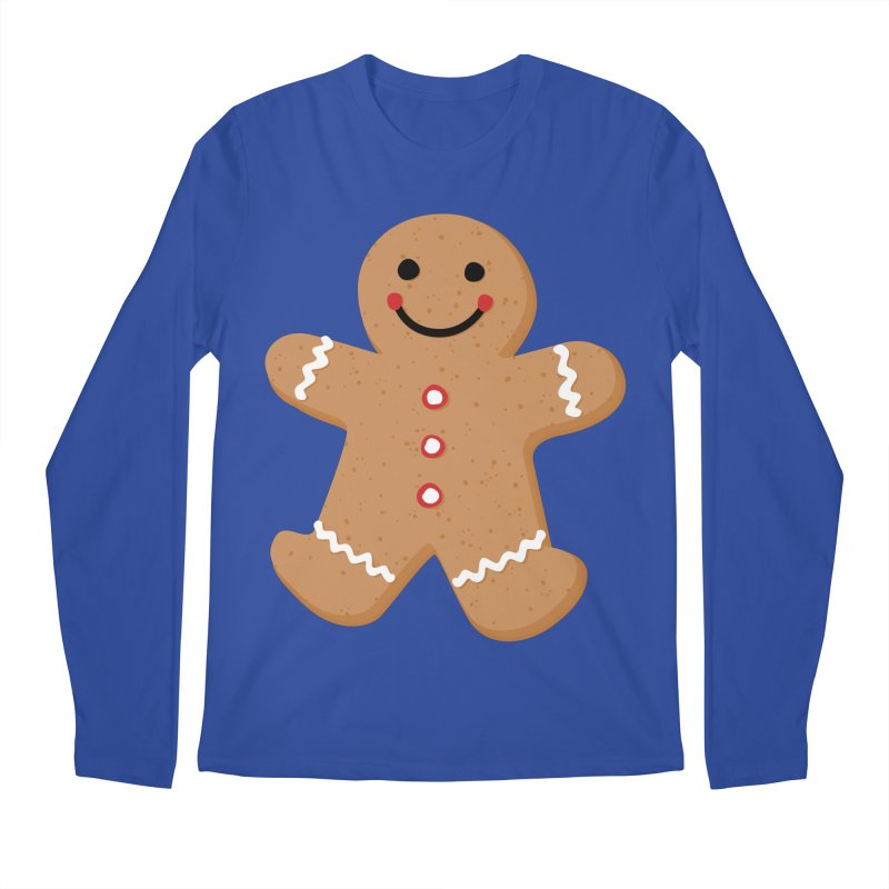 Gingerbread Person Men's Regular Longsleeve T-Shirt by Dean Cole Design