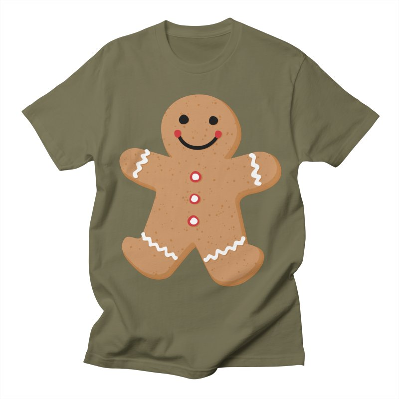 Gingerbread Person Women's Regular Unisex T-Shirt by Dean Cole Design