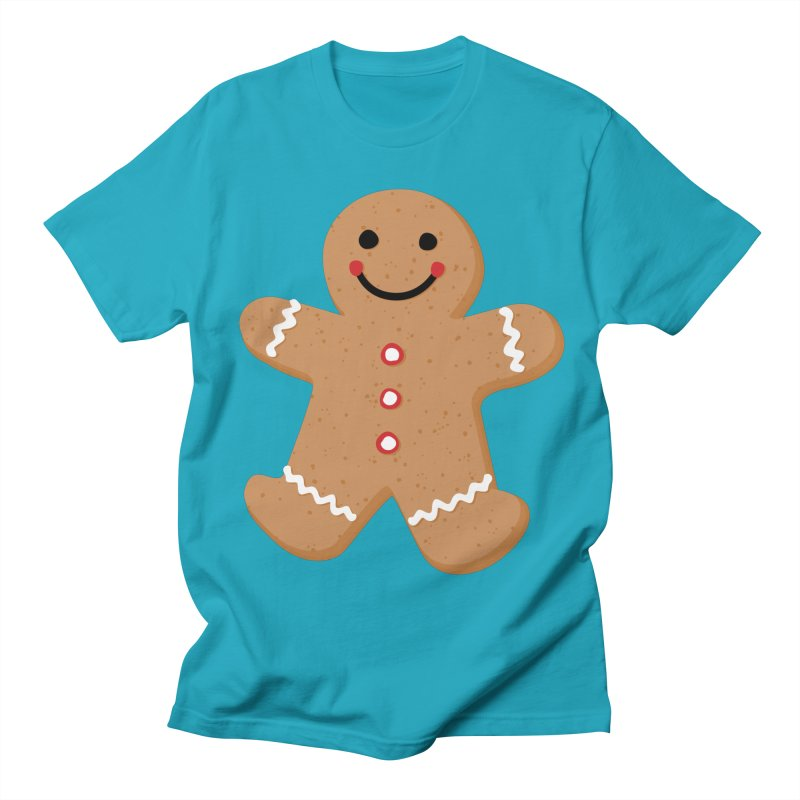 Gingerbread Person Men's Regular T-Shirt by Dean Cole Design