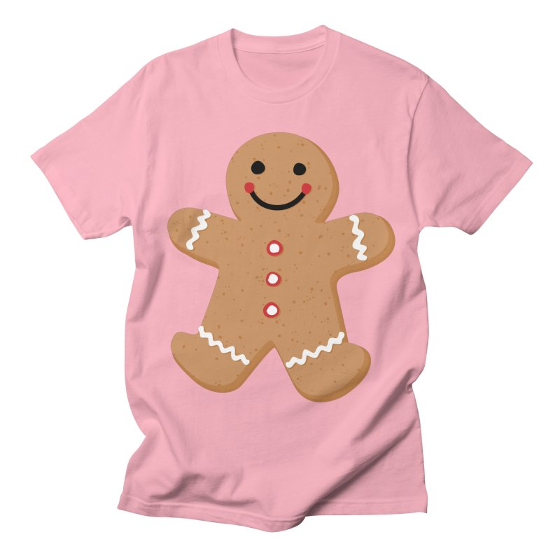 Gingerbread Person Men's Regular T-Shirt by Dean Cole Design