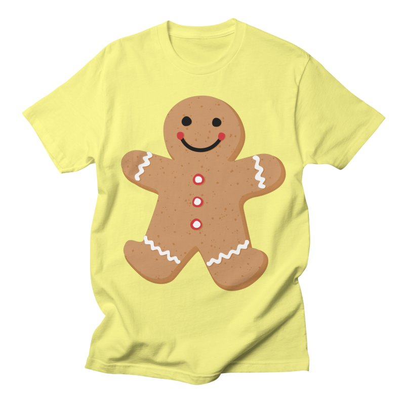 Gingerbread Person Women's Regular Unisex T-Shirt by Dean Cole Design