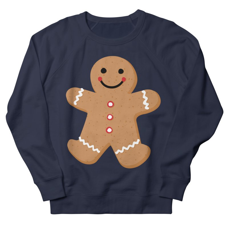 Gingerbread Person Women's French Terry Sweatshirt by Dean Cole Design