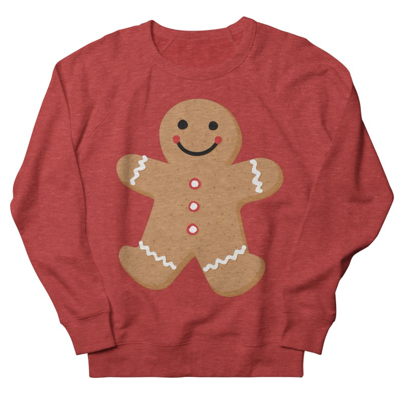 Gingerbread Person Men's French Terry Sweatshirt by Dean Cole Design