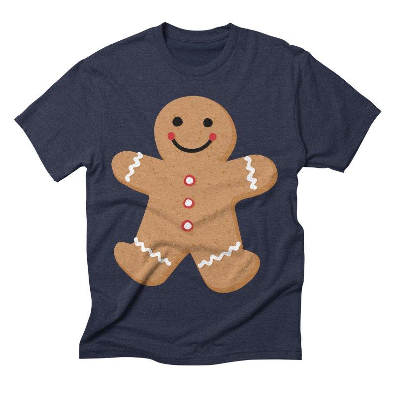 Gingerbread Person Men's Triblend T-Shirt by Dean Cole Design