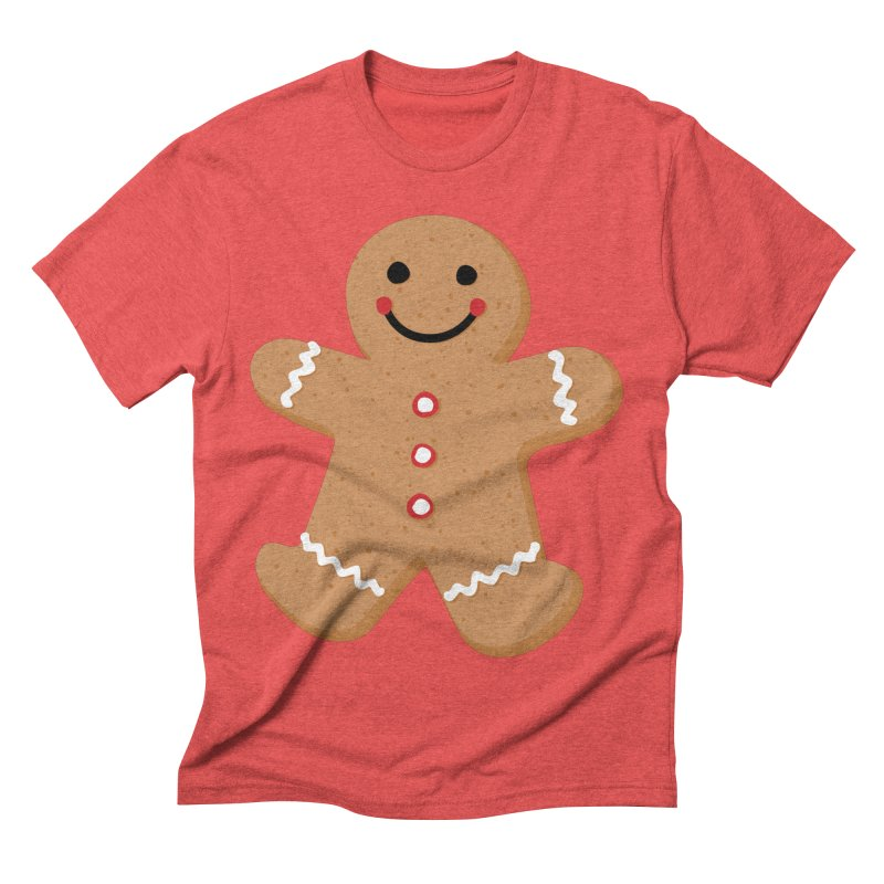 Gingerbread Person Men's Triblend T-Shirt by Dean Cole Design
