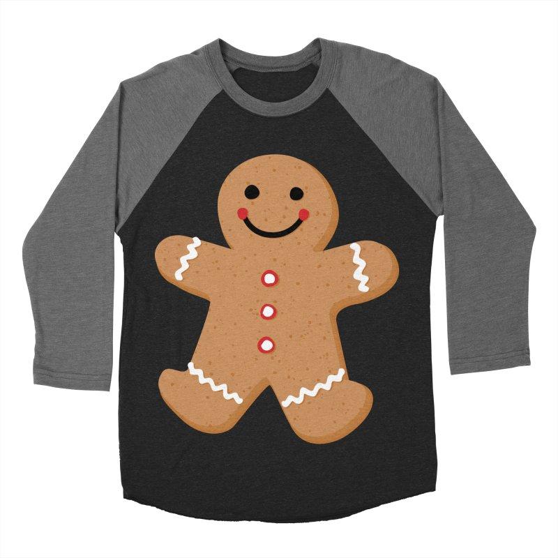 Gingerbread Person Men's Baseball Triblend Longsleeve T-Shirt by Dean Cole Design