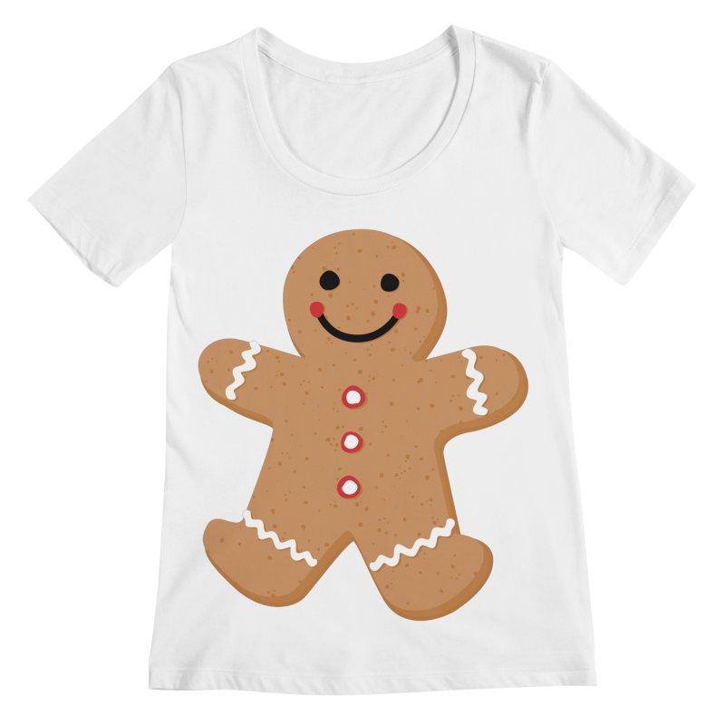 Gingerbread Person Women's Regular Scoop Neck by Dean Cole Design