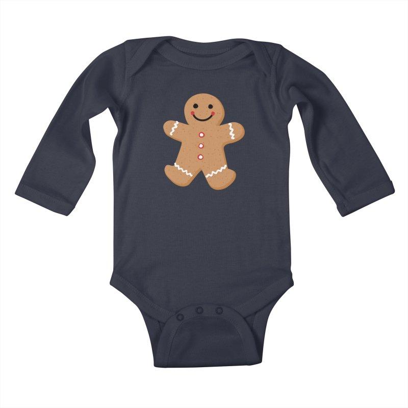 Gingerbread Person Kids Baby Longsleeve Bodysuit by Dean Cole Design