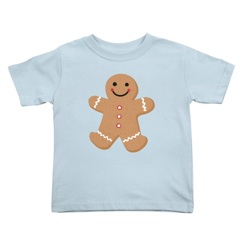 Gingerbread Person Kids Toddler T-Shirt by Dean Cole Design