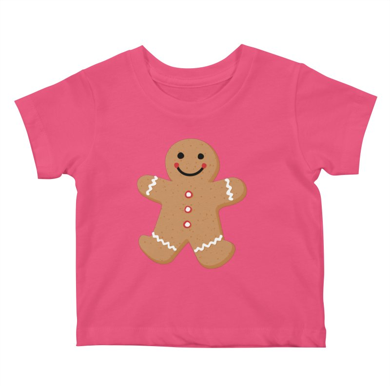 Gingerbread Person Kids Baby T-Shirt by Dean Cole Design