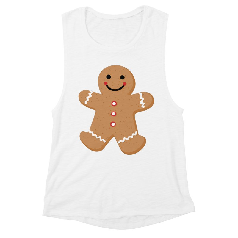 Gingerbread Person Women's Muscle Tank by Dean Cole Design