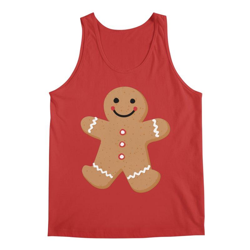 Gingerbread Person Men's Tank by Dean Cole Design