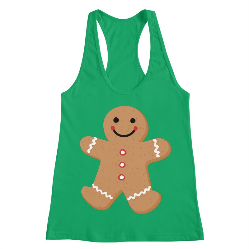 Gingerbread Person Women's Racerback Tank by Dean Cole Design
