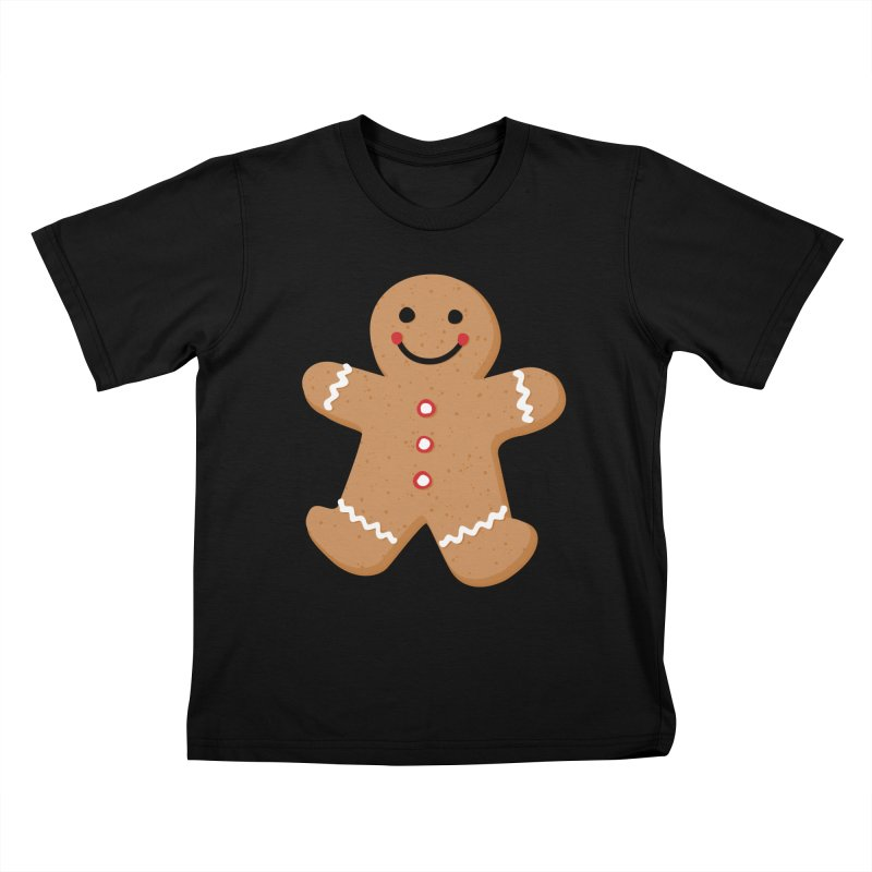 Gingerbread Person Kids T-Shirt by Dean Cole Design