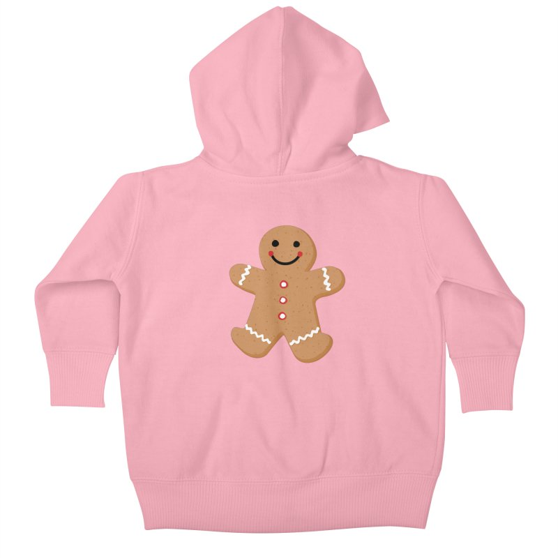 Gingerbread Person Kids Baby Zip-Up Hoody by Dean Cole Design